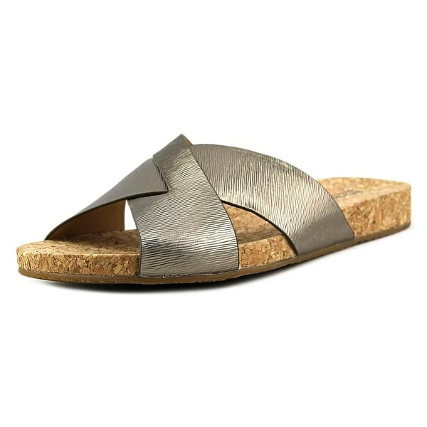 7a6b40951f63 Shop Michael Kors Somerly Slide Women Open Toe Leather Bronze Slides ...