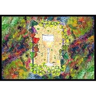 Carolines Treasures 8617JMAT Wine Indoor Or Outdoor Doormat 24 x 36 in.