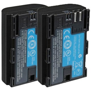 Replacement Battery LP-E6 / BLI-357 / 3347B001 7.2v Lithium Ion For CANON Camera Models New 2 Pack