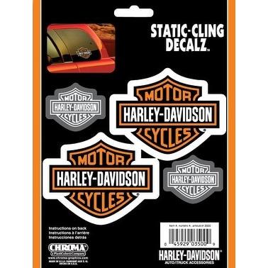 Harley Davidson Static Cling Decal - Orange