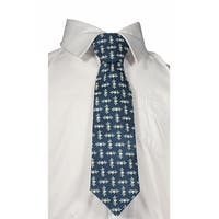 Little Things Mean A Lot Little Boys Blue White Stars Tie