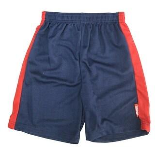 Marvels Little Boys Navy Blue Red Side Stripe Spiderman Shorts 4-7