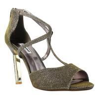 Dune London Womens Gold T-Strap Heels Size 7