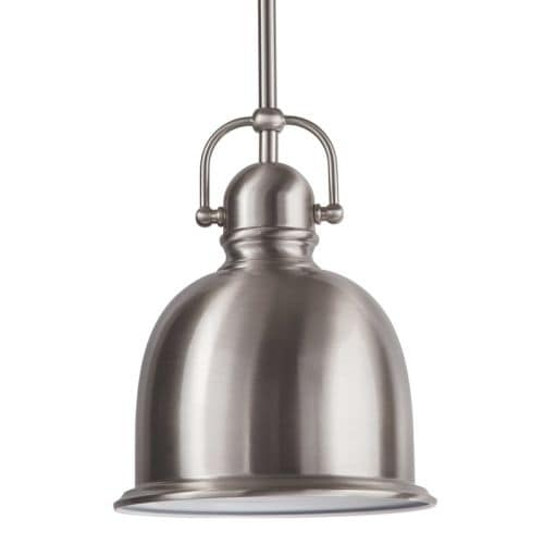 "Park Harbor PHPL5431 8"" Wide Single Light Mini Pendant with Industrial Style Shade"