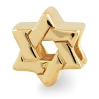 Sterling Silver Reflections Gold-plated Star of David Bead (4mm Diameter Hole)