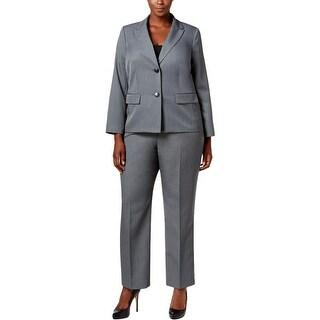 Le Suit Womens Plus Pant Suit 2PC Two-Button