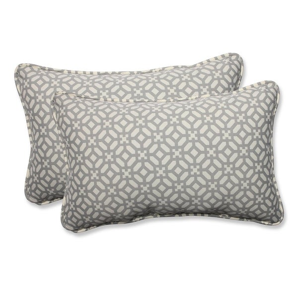 Set of 2 Pebble Geo Star Rectangular Throw Pillow 18.5""