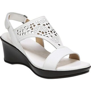 Naturalizer Women's Veda Wedge Sandal White Leather
