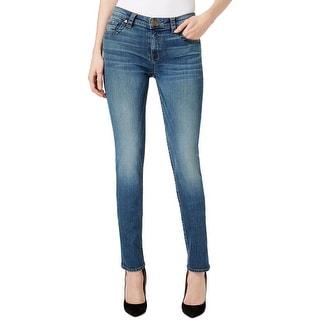 Kut From The Kloth Womens Stevie Straight Leg Jeans Denim Whisker Wash