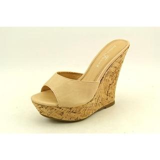 Fashion Focus Ardo-42 Women Open Toe Synthetic Wedge Sandal