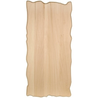 Basswood Rustic Rectangle Plaque