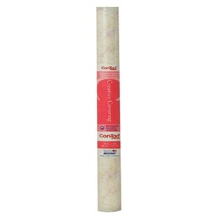 """Kittrich 09F-C9823-12 Beige Marble Contact Paper, 18"""" x 9'"""