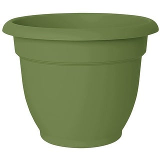 """Bloem 20-56416 Ariana Planter with Self-Watering Grid, Living Green, 16"""""""