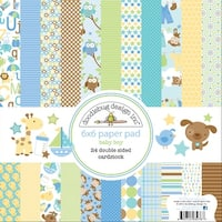 Doodlebug Snips and Snails Paper Pad, 6 by 6-Inch