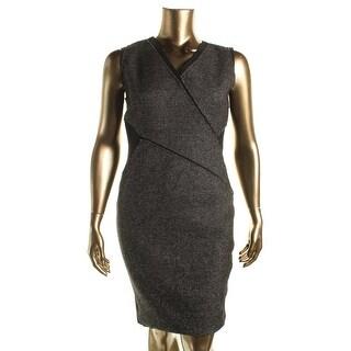Elie Tahari Womens Mixed Media Sheath Wear to Work Dress