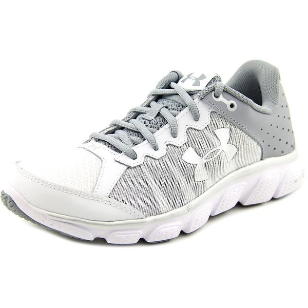 Under Armour Micro G Assert 6 Women Round Toe Synthetic White Running Shoe