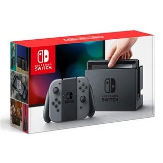 Nintendo Hacskaaaa 32Gb Black Switch Console With 1 Gray Joy Con