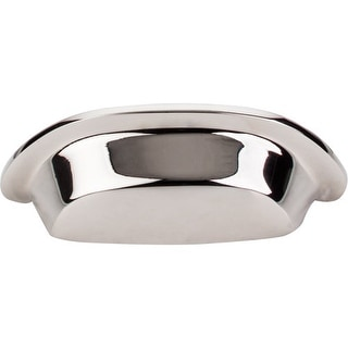 Top Knobs M2004 Aspen II 3 Inch Center to Center Cup Cabinet Pull - polished nickel