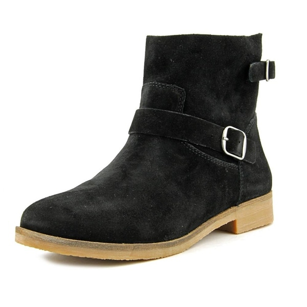 Lucky Brand Galvann Women Round Toe Suede Black Ankle Boot