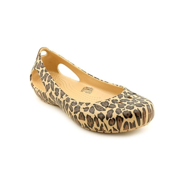 1767971cdbd89d Shop Crocs Kadee Leopard Women Round Toe Synthetic Brown Flats ...