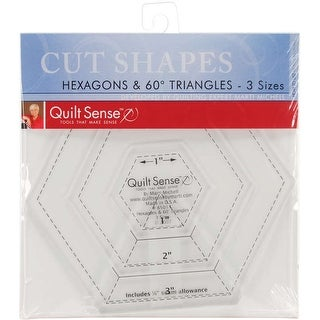 Quilt Sense Hexagons & 60 Degree Triangles Rulers-3 Sizes