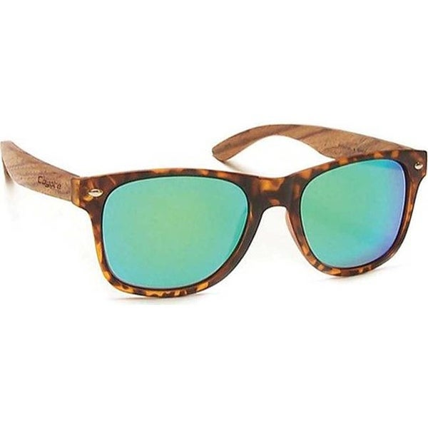 60c9d0c3ff Shop Coyote Eyewear Woodie Sunglasses Tortoise Zebrawood Green Mirror - US  One Size (Size None) - On Sale - Free Shipping Today - Overstock.com -  18158969