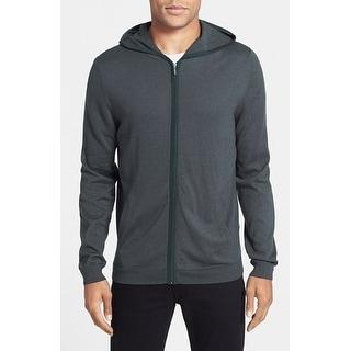 Calibrate NEW Green Mens Size Medium M Striped Full Zip Sweater