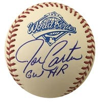 Joe Carter Autographed 1993 World Series Signed Baseball Home Run JSA COA 5