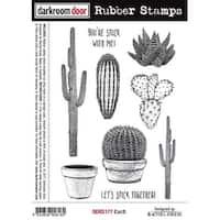 """Darkroom Door Cling Stamps 7""""X5""""-Cacti"""