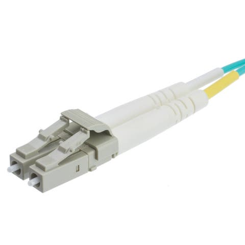 Offex Plenum 10 Gigabit Aqua Fiber Optic Cable, LC / LC, Multimode, Duplex, 50/125, 15 meter (49.2 foot)
