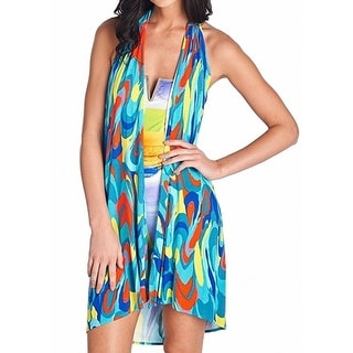 Trina Turk NEW Blue Womens Medium M Abstract Print Cover-Up Swimwear