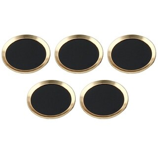 Home Button Sticker Protector Cover 5 PCS Gold Tone for iPhone iPad