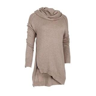 Love Scarlett Womens Asymmetrical Cowl Neck Pullover Sweater