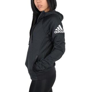 Adidas Womens Adidas Infinite Series Daybreaker Hoodie Black - black/matte black - S