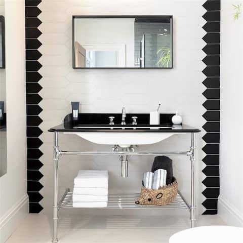 SomerTile 4x11.75-inch Cometa White Porcelain Floor and Wall Tile (40 tiles/11.81 sqft.)