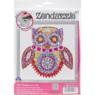 "Design Works/Zendazzle Stamped Needleart Kit 10""X10""-Owl"