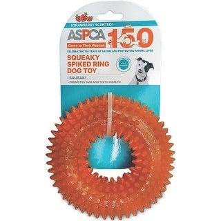 ASPCA Squeaky Spiked Ring Dog Toy-Orange - Orange