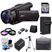 Sony FDR-AX100 4K Ultra HD Camcorder and 16GB Card Bundle