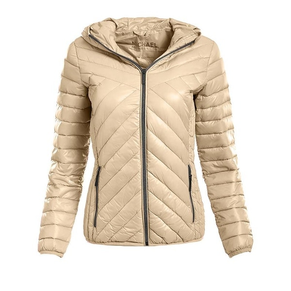 6a9b0cab01dd Shop Michael Michael Kors Khaki Down Packable - Free Shipping Today -  Overstock - 19893453