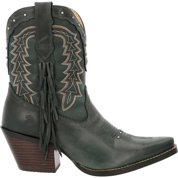 """Durango Crush Snip Toe Womens Boots Ankle Mid Heel 2-3"""" -. Opens flyout."""