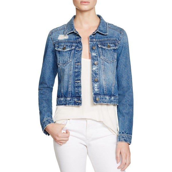 Noisy May Womens Jean Jacket Denim Destroyed