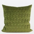 """G Home Collection Luxury Green Braid Textured Quilting Pillow 24""""X24"""" - Thumbnail 0"""