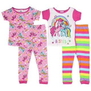 My Little Pony Toddler Girls' Magical 4-Piece Cotton Pajama Set