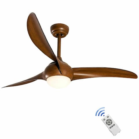 """52"""" Low Profile Ceiling Fan with LED Light"""