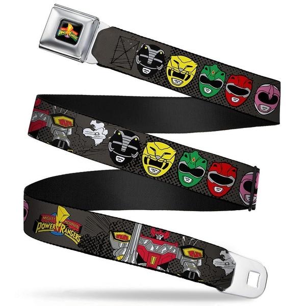 Power Rangers Logo Full Color Megazord Power Rangers Faces Mmpr Logo Gray Seatbelt Belt