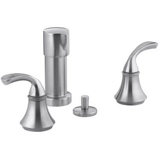 Kohler K-10279-4 Bidet Faucet with Sculpted Lever Handles from the Forte Collection