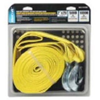 "Mintcraft FH64062-1 Heavy Duty Tow Strap With Hook, 2""x25'"