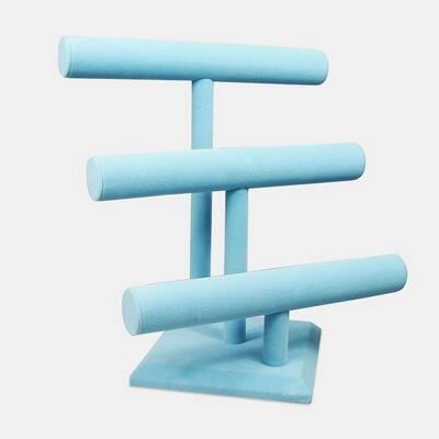 """Blue Velvet Bracelet Holder with 3 Tier Rack, 12""""W x 9 3/4""""D x 13 1/4""""H"""