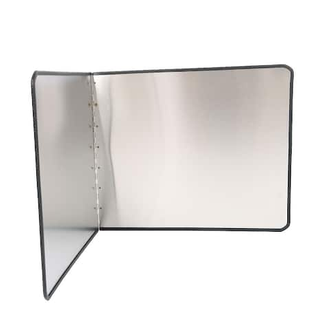 """Stainless Steel Foldable Kitchen Wall Oil Splash Guard Block Cover 17.7"""" x 15"""""""