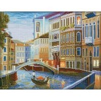 """13.75""""X10.5"""" 14 Count - Night Venice Counted Cross Stitch Kit"""